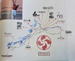 Carte stylisée du Pays Basque