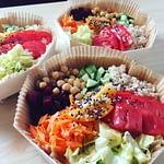 Salade composée végétarienne à emporter